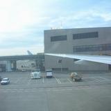 夕日がきれいな成田からタイへ向けていよいよ離陸