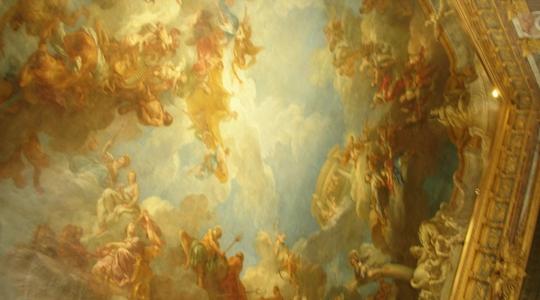 ベルサイユ宮殿の美しい天井画