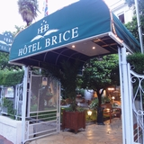 今日の安宿はニースの三ツ星ホテル「HOTEL BRICE」