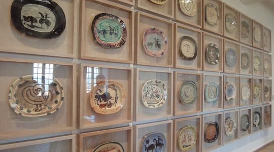 アンティーブにあるピカソ美術館のピカソのお皿