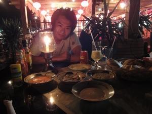 エジプトのダハブといえばビーチ沿いのレストランでディナー