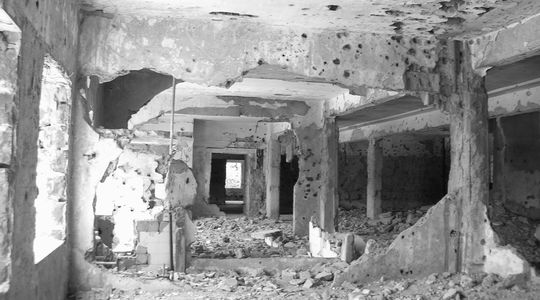 破壊されたクネイトラの病院