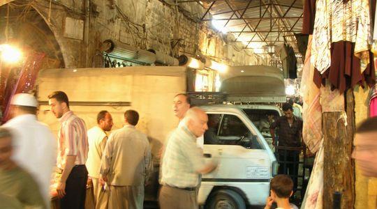 楽しく生きているシリアの人々@アレッポのスーク