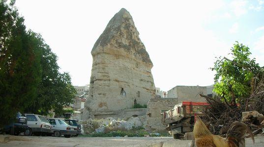 ギョレメの街の至る所にある奇岩