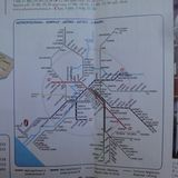ローマの路線図 地下鉄と郊外鉄道