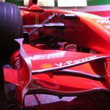 フェラーリ博物館では空力パーツの細かいところまで見られる