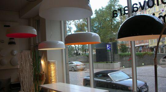 いい色、いい形、絶妙な組み合わせのランプシェード
