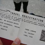 セルフチェックイン機から出てきた謎の紙