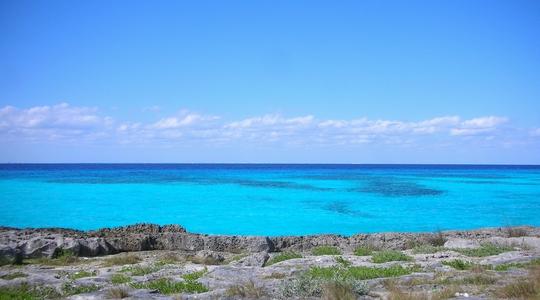 エメラルドグリーンに輝くカリブ海。コスメルのこのスポットは貸切状態