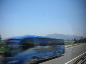 サンティアゴの空港からビーニャ・デル・マルへ移動する