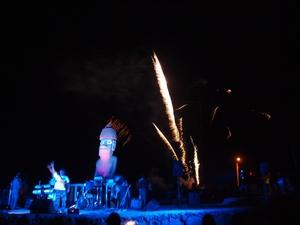 2011年を迎えると同時にイースター島に10年ぶりの花火があがる