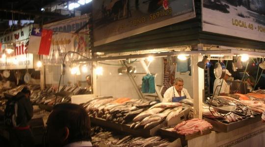 サンティアゴの中央市場