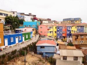 バルパライソのカラフルな街並み