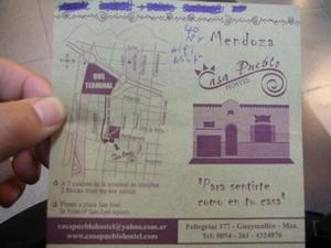 メンドーサの安宿「Casa Pueblo Hostel」行き方