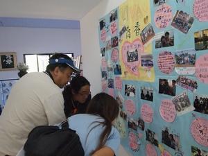 イグアス移住地の日本人会広報担当の壱番さんは日本語学校の先生もやっている