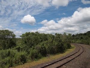 イグアスの滝内の移動は電車(アルゼンチン側)