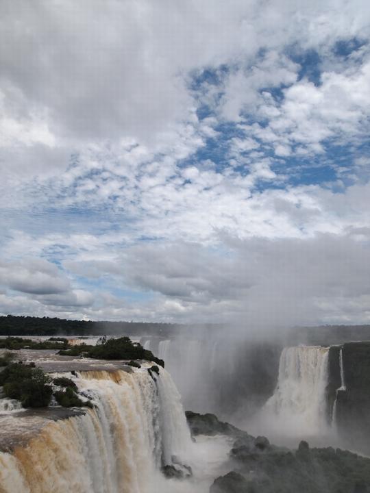 ブラジル側からのイグアスの滝!