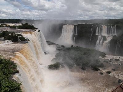 アルゼンチン側とは違う迫力のブラジル側イグアスの滝