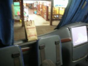 エンカルナシオンからブエノスアイレスへの夜行バス。2階の一番前という特等席