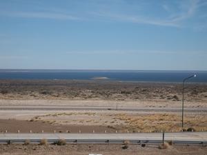 バルデス半島の入り口にある展望台からの眺め