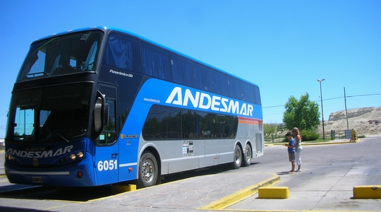 プエルト・マドリンからリオ・ガジェゴスまで夜行バスで移動