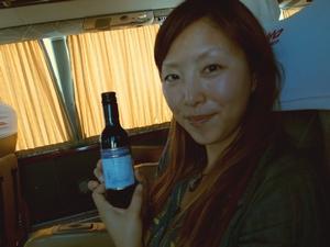 南米の高級バス。カマで出されるワイン