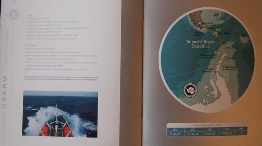 ウシュアイアで南極ツアーのラストミニッツに申し込む。Antarctic Dream号
