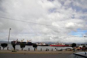 どんよりとした雲に覆われる今日のウシュアイア。ころころ変わる天気に惑わされる