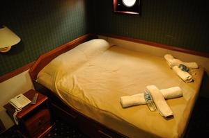 まるでホテルの様なAntarctic Dream号のキャビン