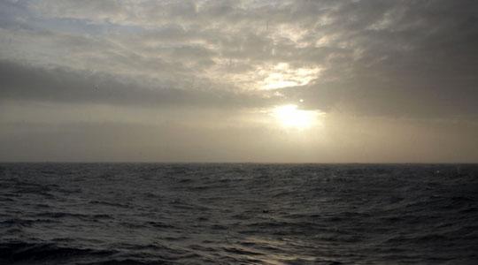 今日も荒れるドレーク海峡。こんな日は、南極上陸クルーズ船の中で特にやることが無い。