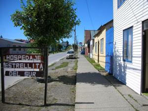 プエルト・ナタレスの安宿 Estrellita Del Sur。家族経営の清潔な安宿。パイネへ行くときの荷物預かりも無料