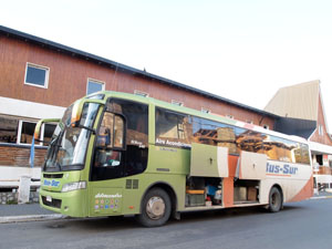 パタゴニアのバスは至って普通のバス。ウシュアイアからプエルト・ナタレスへバス移動!