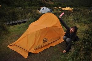 パイネグランデキャンプ場へテント設営!