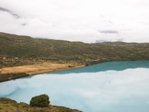 パイネグランデキャンプ場の下の道を歩くお散歩コースから見える湖。