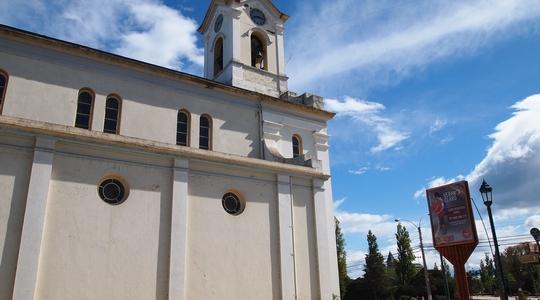 プエルト・ナタレスの中心部にある教会