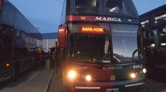 バリローチェ行きの夜行バス