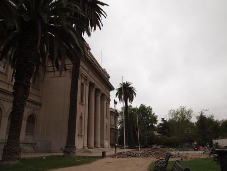 工事中のサンティアゴの国立自然史博物館