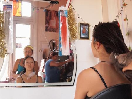 ペルーのリマで髪のカラー!タオル&ドライヤーで乾かしてくれた