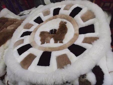 クスコのお土産 アルパカの敷物