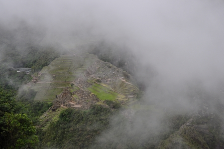 マチュピチュの上空だけぽっかりと雲がなくなっている