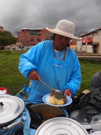 初のボリビア料理。意外とうまい!