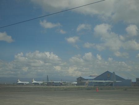 ルレナバケ行きのプライベートセスナから見るラパスの空港