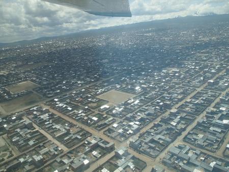 ラパスの街がどんどん小さくなる