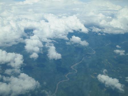 ラパスから20分程で既にジャングル上空